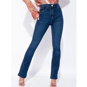 High Waist Skinny Slim Flare Jeans Denim